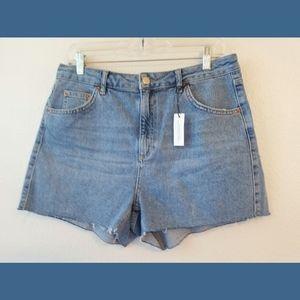 Topshop NWT Mom High Waisted Denim Shorts Sz 10